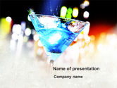 Food & Beverage: Blue Lagoon Cocktail PowerPoint Template #10591