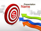 Target+setting: Achieving a Goal PowerPoint Template #10592