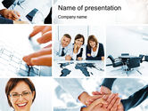 People: Cohesive Team PowerPoint Template #10649