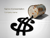 Gas+furnace: Oil Dollar PowerPoint Template #10709