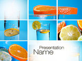 Drinking alcohol: Lemon and Oranges Collage PowerPoint Template #10806