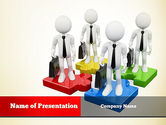 Consulting: Business People Team PowerPoint Template #10891