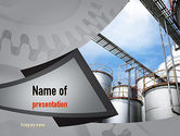 Gas+furnace: Industrial Tanks PowerPoint Template #10916