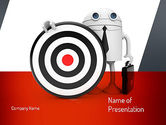 Target+setting: Business Android with Target PowerPoint Template #11073