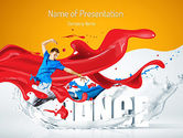 Art & Entertainment: Energetic Dancer PowerPoint Template #11125