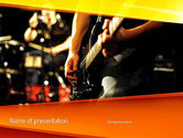 Art & Entertainment: Live Band PowerPoint Template #11240