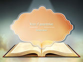 Religious/Spiritual: Open Bible with Light Rays PowerPoint Template #11265
