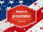 Holiday/Special Occasion: Festive American Flag PowerPoint Template #11323