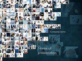 Business: Business in Action Collage PowerPoint Template #11339