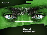 Flags/International: Saudi Arabia Flag PowerPoint Template #11344