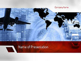 Cars and Transportation: Logistics Services PowerPoint Template #11364