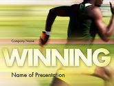 Sports: Sprinter PowerPoint Template #11513