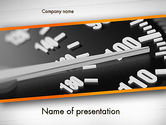 Cars and Transportation: Speeding PowerPoint Template #11544