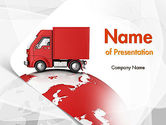 Cars and Transportation: Worldwide Delivery PowerPoint Template #11582