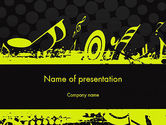Art & Entertainment: Music Theme PowerPoint Template #11617