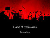 Musical+instruments+templates: Rock Concert PowerPoint Template #11718