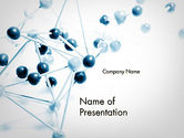 Technology and Science: Atomic Lattice PowerPoint Template #11723