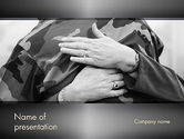People: Veterans and Their Families PowerPoint Template #11750
