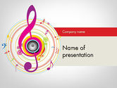 Art & Entertainment: Violin Key PowerPoint Template #11875