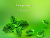 Food & Beverage: Mint Green Background PowerPoint Template #11927