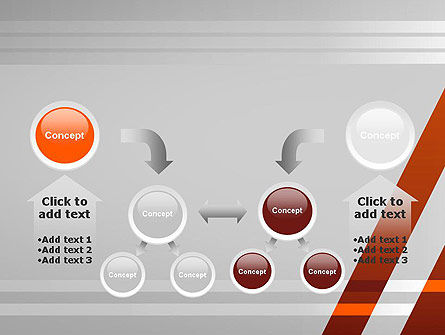 neat orangegray powerpoint template backgrounds 11988