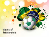 Holiday/Special Occasion: Love Brazil PowerPoint Template #12157