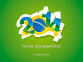 Holiday/Special Occasion: 2014 Brazil World Cup PowerPoint Template #12216