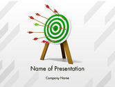 Target+setting: Environmental Target PowerPoint Template #12347