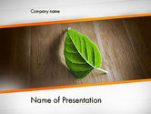 Consulting: Turn Over a New Leaf PowerPoint Template #12499