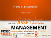 Careers/Industry: Asset Management Word Cloud PowerPoint Template #12810