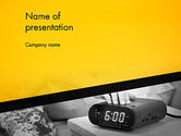 Business Concepts: Wake Up Early Alarm Clock PowerPoint Template #12821