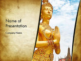Construction: Temples in Bangkok PowerPoint Template #12886