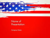 America: United States Flag Theme PowerPoint #12931
