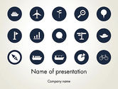 Cars and Transportation: Transportation Icons PowerPoint Template #12963