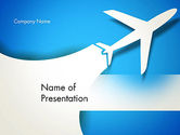 Cars and Transportation: Plane Illustration PowerPoint Template #13043