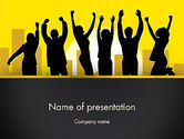 People: Jumping People Silhouettes PowerPoint Template #13082