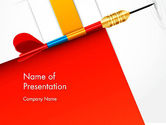 Business Concepts: Darts Hitting Target PowerPoint Template #13238