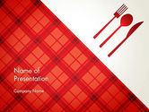 Food & Beverage: Tablecloth Decoration Illustration PowerPoint Template #13273