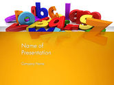 Education & Training: Colorful Letters PowerPoint Template #13354