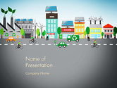 Green: Nature Friendly Eco City PowerPoint Template #13367