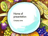 Food & Beverage: Fruits and Vegetables Diet PowerPoint Template #13390