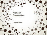 Technology and Science: Molecule Background PowerPoint Template #13447