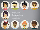 People: Colored People Avatars PowerPoint Template #13576