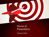 Business Concepts: Hit the Target PowerPoint Template #13579
