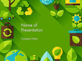Nature & Environment: Green Sustainability PowerPoint Template #13580