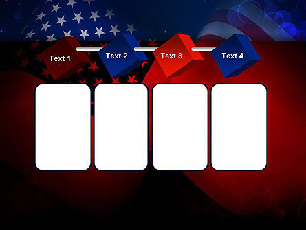 flag of the united states powerpoint template backgrounds