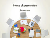 Business: Meeting Table Top View PowerPoint Template #13807