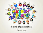 Education & Training: Hello Kindergarten PowerPoint Template #13883