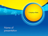 Abstract/Textures: Golden and Blue Abstract PowerPoint Template #13931