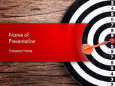 Business Concepts: Dart Hitting Target PowerPoint Template #13947